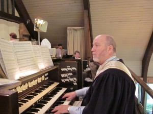Larry at the Organ